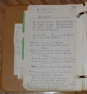 Leonard Kuehn's cookbooks.