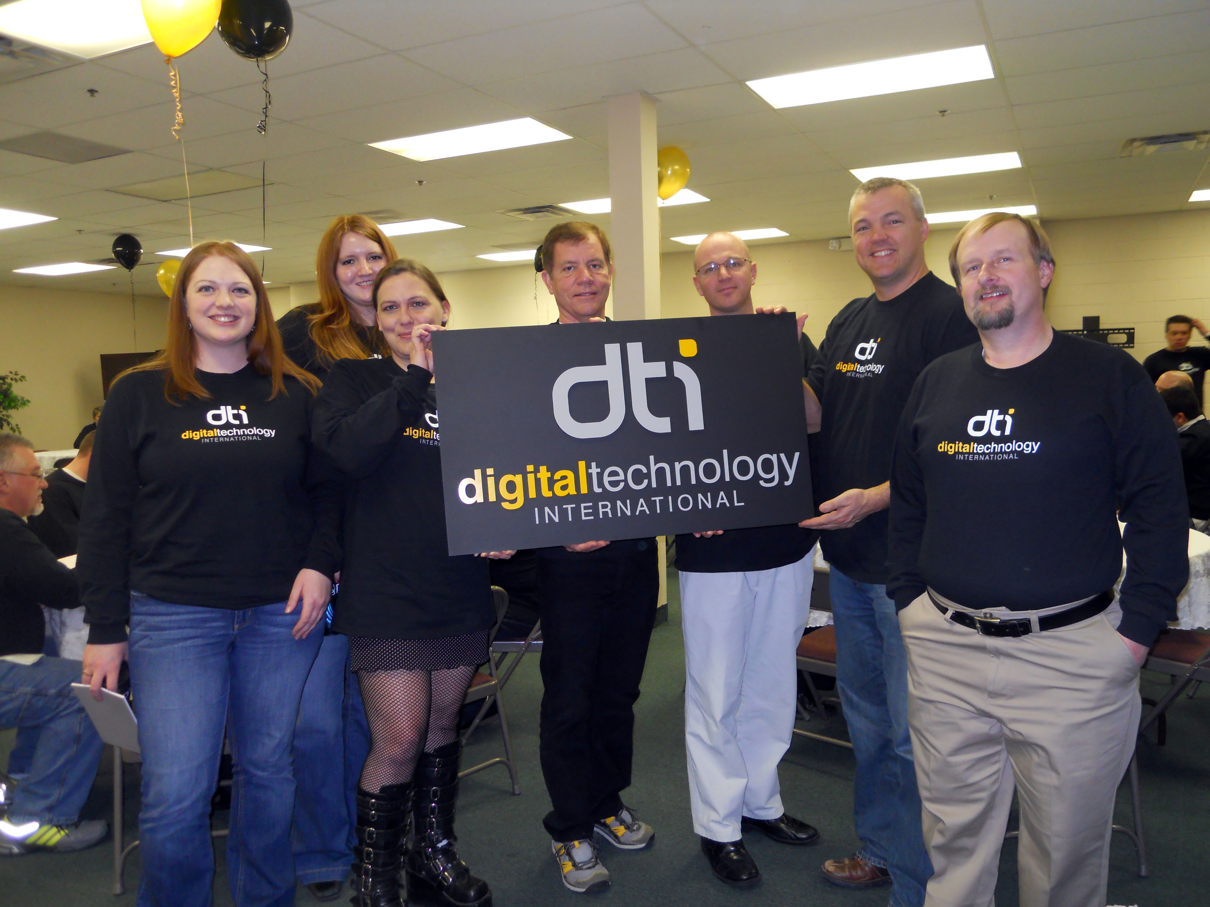 A party at DTI to celebrate our new logo design.