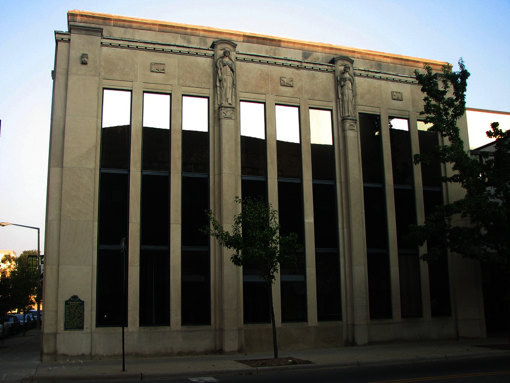 The front of the Kalamazoo Gazette building during my tenure.
