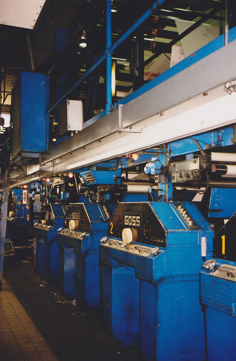The Gazette's Goss printing presses.