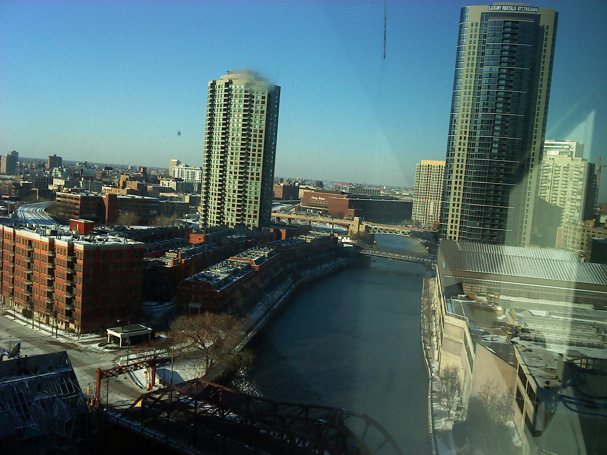 The view from the room where we did our demos at The Chicago Sun-Times.