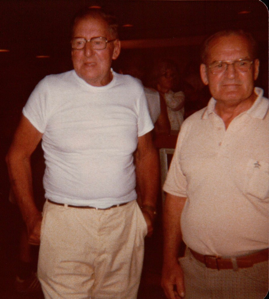 Dad, with Iris' husband Cecil during a tour of the St. Julian Winery in Paw Paw, MI in 1978.